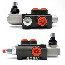 1/2/3 Spool Hydraulic Directional Control Valve Adjustable 11GPM for Loaders USA