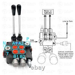 1/2/3 Spool Hydraulic Monoblock Directional Control Valve Adjustable Pressure US