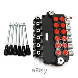 1-6 Spool Hydraulic Monoblock Directional Control Valve Joystick 21GPM 11GPM