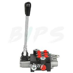 11 gpm 3 Spool Hydraulic Directional Control Valve Adjustable Pressure Loader
