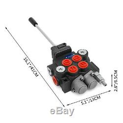 2 Spool 11 GPM Hydraulic Directional Control Valve Tractor Loader with Joystick