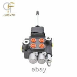 2 Spool 21GPM Hydraulic Directional Control Valve for Tractor Loader withJoystick