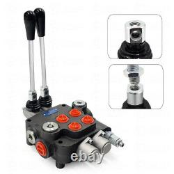 2 Spool Hydraulic Directional Control Valve 11gpm Adjustable Tractors loaders