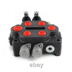 2 Spool Hydraulic Directional Control Valve 25GPM Adjustable for Tractors Loader