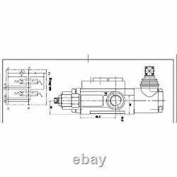 2 Spool Hydraulic Directional Control Valve Double Acting Monoblock Cylinder