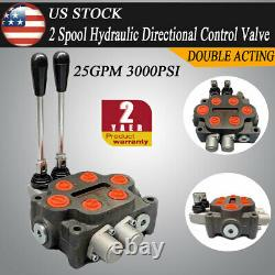 2 Spool Monoblock Hydraulic Directional Control Valve Double Acting 25GPM 300PSI