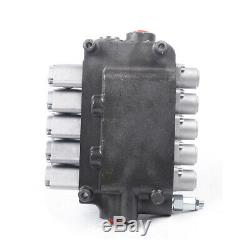 21GPM Hydraulic Directional Adjustable Control Valve 6 Spool for Tractor Loaders