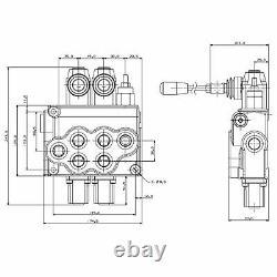 21GPM Hydraulic Monoblock Valve SAE 10 BSP 2 Bank Directional Control Valve, NEW