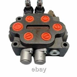 25GPM Hydraulic Directional Control Valve 2 Spool Double Acting Hydraulic Valve