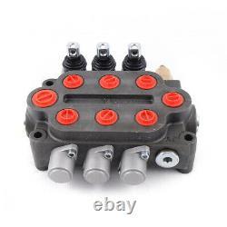 3 Spool 25 GPM Hydraulic Monoblock Directional Control Valve 3000 PSI 90L/min
