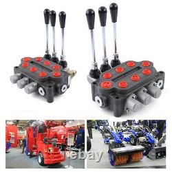 3 Spool 25gpm Hydraulic Directional Control Valve Double Acting 3000PSI 90L/min