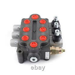 3 Spool 25gpm Hydraulic Monoblock Directional Control Valve Double Acting USA