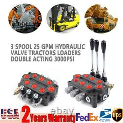 3 Spool Hydraulic Control Valve Tractors 25GPM Loaders Directional Control Valve