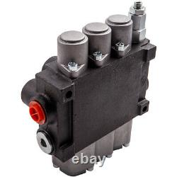 3 Spool Hydraulic Directional Control Valve 11gpm Adjustable Release Valve New