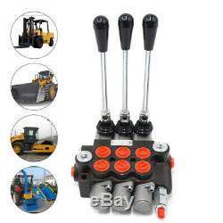 3 Spool Monoblock Hydraulic Directional Control Valve Adjustable Pressure 11 GPM