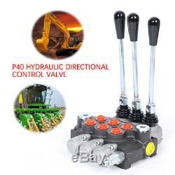 3 Spool P40 Multi-way Hydraulic Directional Control Valve 13GPM 250bar Manual