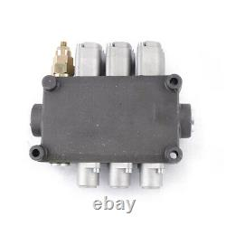3Spool 25gpm Hydraulic Directional Control Valve Double Acting 90L/min 1-5lever