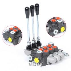 3Spool Hydraulic Directional Control Valve Manual Operate 13GPM 250bar 100% New