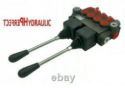 4 BANK Hydraulic Directional Control Valve 2x JOYSTICK 21gpm 80L 4x DA Double