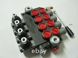 4 Bank Ways Lever Hydraulic Directional Flow Spool Valve