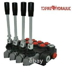 4 Spool Hydraulic Directional Control Valve 21gpm 80L 1x Single 3x Double Acting