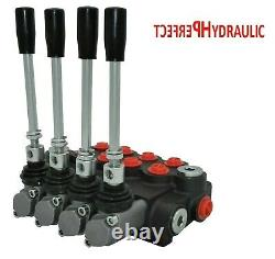 4 Spool Hydraulic Directional Control Valve 21gpm 80L Double Acting Cylinder DA