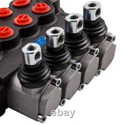 4 Spool Hydraulic Directional Control Valve Max Flow 11 GPM for Tractors Loaders