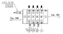 4 spool hydraulic directional control valve 13gpm HC-M50/4 with dump valve, 69309
