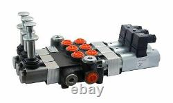 4 spool hydraulic solenoid directional control valve 13gpm 12VDC + hand control