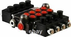 4 spool hydraulic solenoid directional control valve 21gpm 12VDC, monoblock