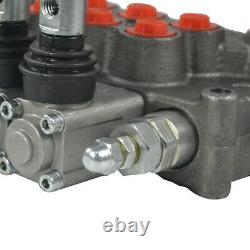 5 Spool Hydraulic Directional Control Valve 11gpm Adjustable Relief Valve TOP