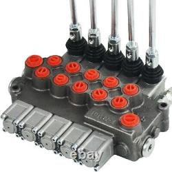 5 Spool Hydraulic Directional Control Valve Double Acting Cylinder Spool 11gpm