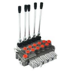 5 Spool Monoblock Hydraulic Directional Control Valve, 11 GPM