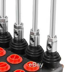 5 Spool Monoblock Hydraulic Directional Control Valve, 11 GPM, SAE Ports