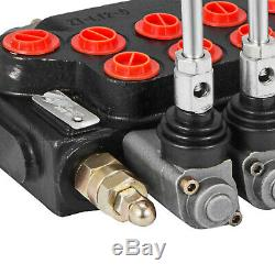 5 Spool Monoblock Hydraulic Directional Control Valve, 11 GPM, SAE Ports