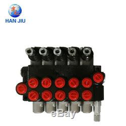 5 spool hydraulic directional control valve 11gpm, double acting cylinder spool