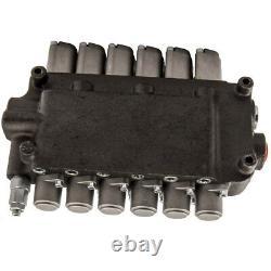 6 Spool 2 Joysticks Hydraulic Directional Control Valve 21gpm 40L/min