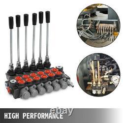 6 Spool 6 Joysticks Monoblock Hydraulic Directional Control Valve 11gpm 40l/min