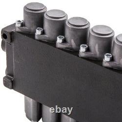 6 Spool Hydraulic Backhoe Directional Control Valve + 2 Joysticks 11 GPM