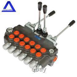 6 Spool Hydraulic Backhoe Directional Control Valve with 2 Joysticks, 21 GPM