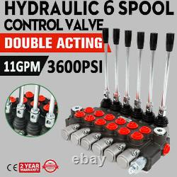 6 Spool Hydraulic Directional Control Valve 11GPM Double Acting Adjustable