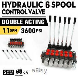6 Spool Hydraulic Directional Control Valve 11Gpm Motors 4300Psi 40l/min Adjust