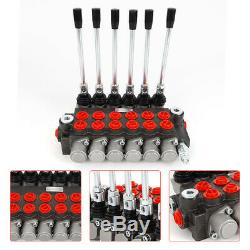 6 Spool Hydraulic Directional Control Valve 11gpm 3600 PSI For Tractors