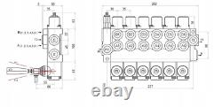 6 Spool Hydraulic Directional Control Valve 11gpm 40L Double Acting Cylinder DA