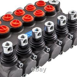 6 Spool Hydraulic Directional Control Valve Double Acting Cylinder 11gpm 40l/min