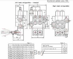 6 spool hydraulic directional control valve 11gpm (40l/min) 6P40 + 2 joysticks
