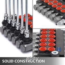 6 spool hydraulic directional control valve 11gpm + 6 joysticks USA