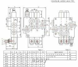 6 spool hydraulic directional control valve 21gpm (80l/min) 6P80 + 2 joysticks