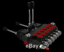 6 spool hydraulic directional valve 11gpm (40l/min) 6P40 with 2 joysticks