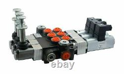 6 spool hydraulic solenoid directional control valve 13gpm 12VDC + hand control